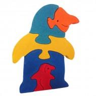 Puzle pinguino trupán 5 piezas